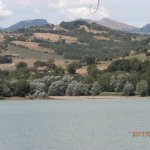 The lake looking west with some of the Sibillini peaks in the background