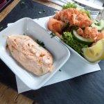 Crayfish salad and dip