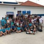 55 jovens de Madrid, tiveram a oportunidade de fazer Snorkeling e Kayak. Quem não gostava?! 🚣♂