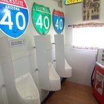 Route 66 Gift Shop men's restrooms!!