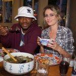 Happy at Ach'i: international top DJ TapTap and husband Du Bronks, Singer, Composer and Writer,