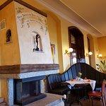 Wenn Bacchus Feuer macht - ein gemütlicher Raum im Restaurant