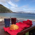 Enjoying afternoon at Keem Beach, Achill Island