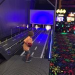 Kids bowling alley. Comes with bumpers. Great way to learn bowling!