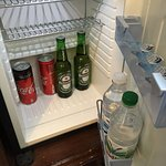 Minibar (with 2 complimentary water, coke, and beer)