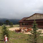 Long's Peak Lodge. There are multiple fire pits (gas) around the property.
