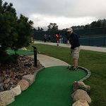 The mini-golf offers a 9 hole or 18 hole option. Its included in your rate.