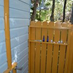 Downstairs Outdoor Shower of one of the Huts - Stardust