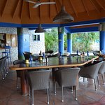 This is the large hut that acts as the bar, breakfast and lunch location.
