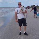 Steve and Sammy on the beach