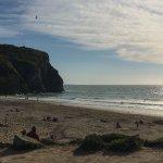 View across Porthtowan beach.