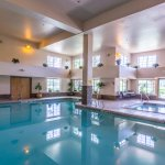 Large heated indoor pool and hot tub