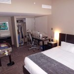 I liked the bedroom; three luggage racks, a big closet and a desk. Sweet!