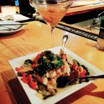 """This is the """"Pescatarian"""" and the Black and Bleu Martini, YUM!"""