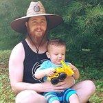 My and my nephew Corbin at Cabin 428