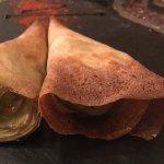 Trompetas de alcachofas con foie