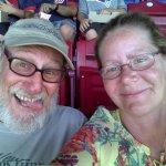 Having fun watching the game at McCoy Stadium
