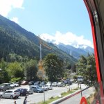 View from the cable car in Mont Blanc, Chamonix