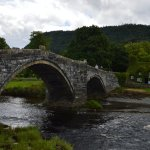Bridge over River Conwy at Llanrwst - a short walk from the hotel.