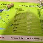 W czasie oczekiwania na posiłek, można pouczyć się języka greckiego :)