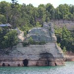 As seen from Pictured Rocks Cruises - top deck
