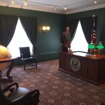 A reproduction of President Roosevelt's White House office.