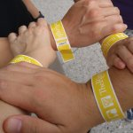 Ringling wristbands to get inside the circus and the mansion.