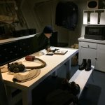 Crew quarters and example of equipment/clothing from the time period