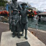 Southern town of Cobh. Statue of Annie Moore, first Irish arrival on Ellis Island.