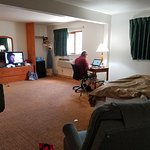 This is suite room , which was nice. Deisel our cat loved it.