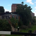 Upper Lock Café from the canal bridge