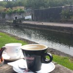 Tea and coffee by the canal