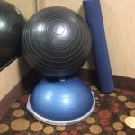 Impressive that they do have a well inflated ball, a BOSU and a foam roller.