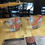 Neat idea - water in a measuring cup!