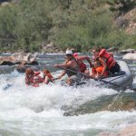 Class three rapid on the salmon river.