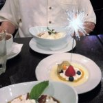Fabulous Bananas Foster plus anniversary treat & sparkler from restaurant