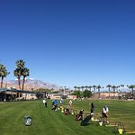 Facing west at the driving range in Palm Desert, about 8 minutes from Motel 6