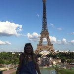 My daughter at the Trocadero
