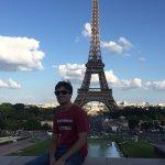 My son at the Trocadero