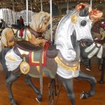 Armored horse on Jane's Carousel