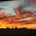 Stunning sunset over Sydney city