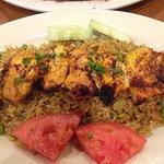 Grilled chicken on Biriyani