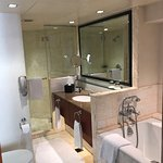 Large Marble Bathroom, separate shower and soaking tub.