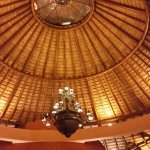Shot of Roof in Hotel Main Entrance - must see in person to fully appreciate the craftsmanship
