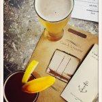 Menu and local beer