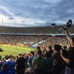 Excited crowd at Minnesota United socer match.