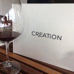 Creation - good views and good food and wine