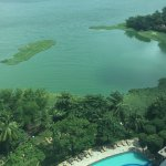 View from 31st floor over Lake Powai