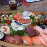 Luxe boot verschillende sushi