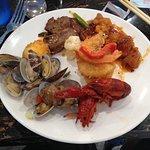 Crayfish and clams